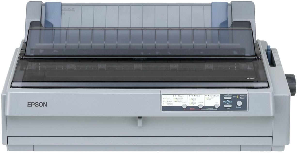 EPSON tiskárna jehličková LQ-2190, A3, 24 jehel, 576 zn/s, 1+5 kopii, LPT, USB