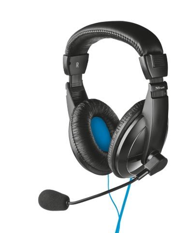 TRUST Sluchátka s mikrofonem Quasar USB Headset