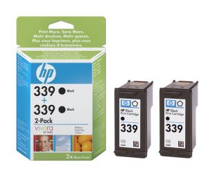 HP C9504EE Ink Cart No.339 pro DJ 5740,6540, 2x21ml, Black, (C8767E 2x)