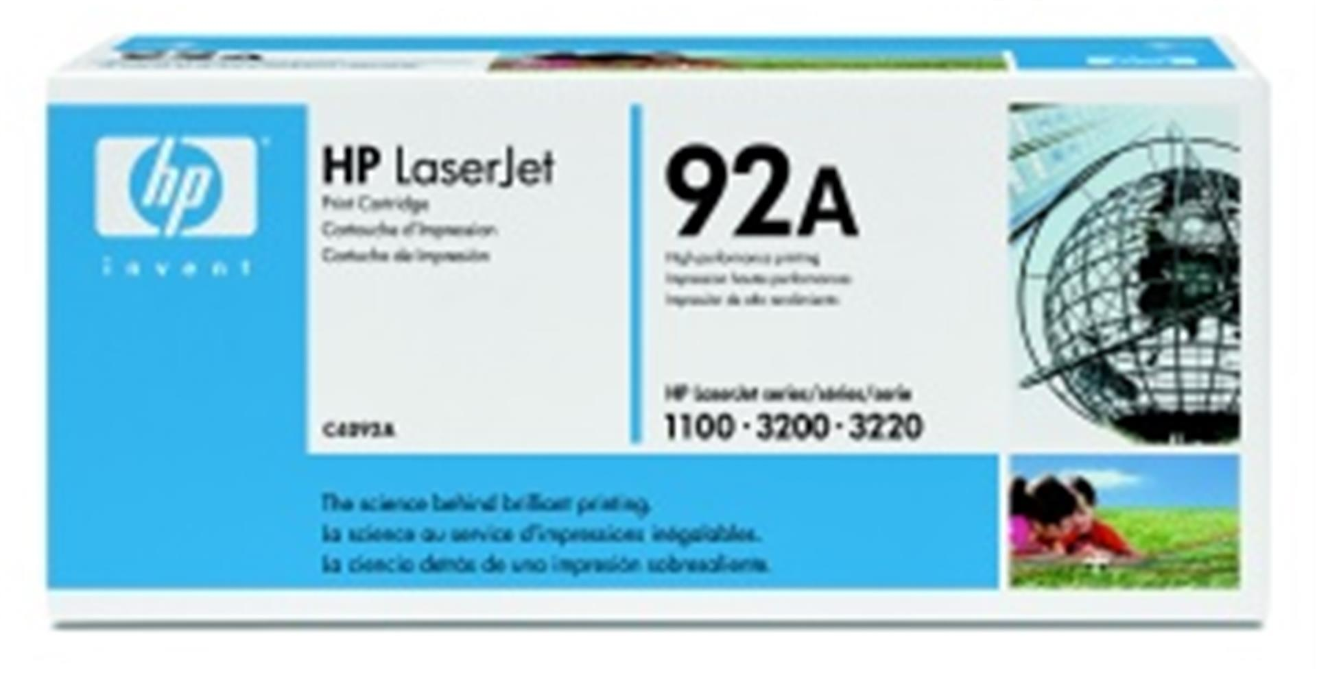 HP C4092A Toner 92A pro LJ 1100,1100A, (2500str), Black