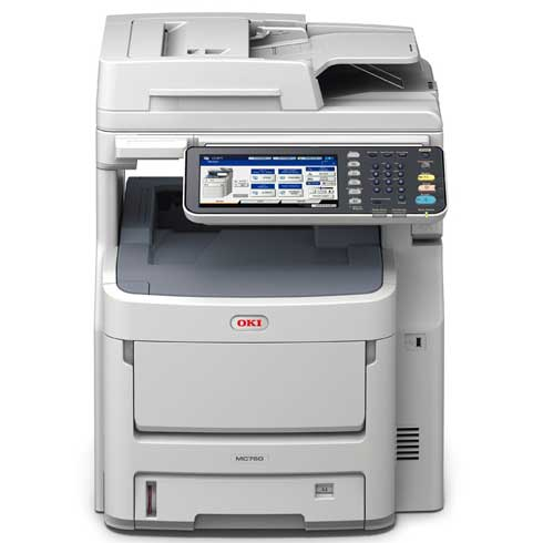 OKI MC760dnfax barevná MFP A4 28-28str/min, 2GB RAM, COPY, SCAN, HDD, DUPLEX, FAX