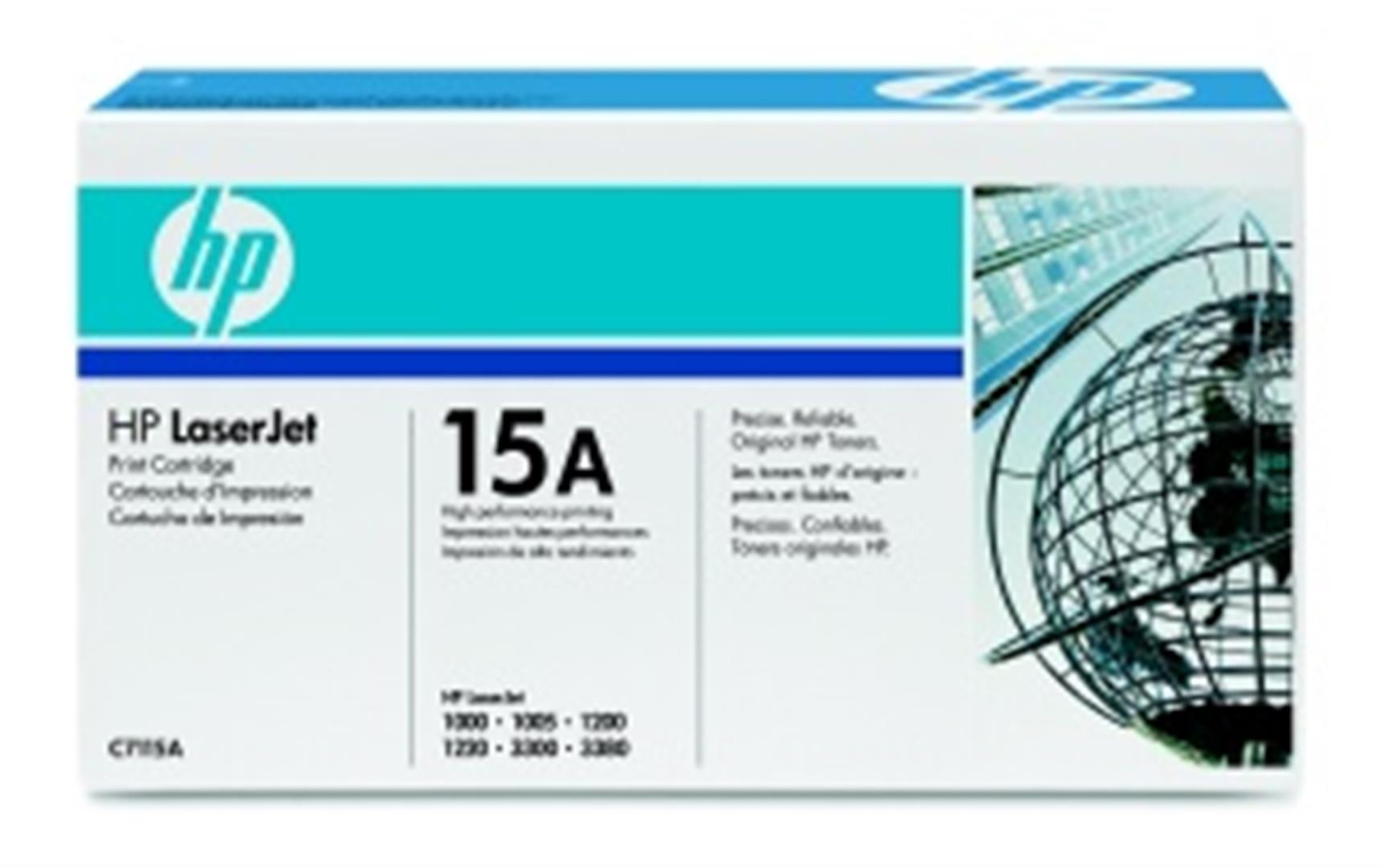 HP C7115A Toner 15A pro LJ 1200, 1220, 1000w, 33x0MFP, (2500str), Black