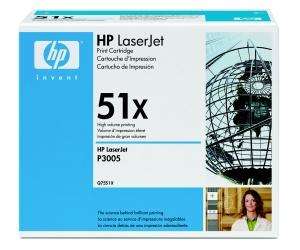 HP Q7551X Toner 51X pro LJ P3005/M3035mfp/M3027mfp, (13 000str), Black