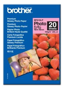 Brother - fotopapíry premium BP61GLP 10x15 20 ks