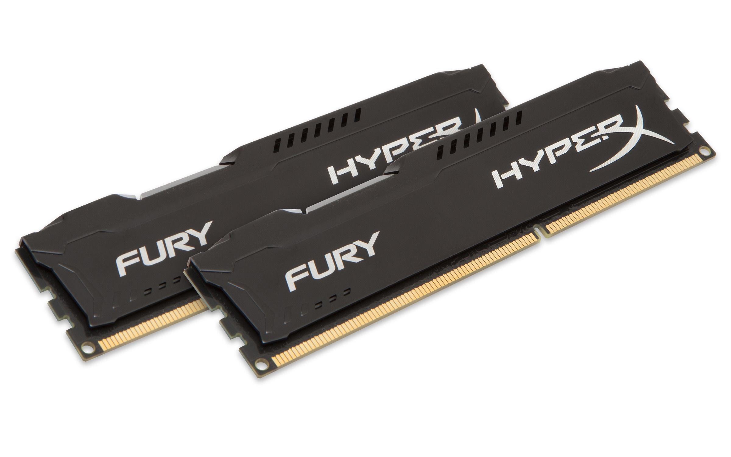 KINGSTON 8GB 1600MHz DDR3 CL10 DIMM (Kit of 2) HyperX FURY Black Series