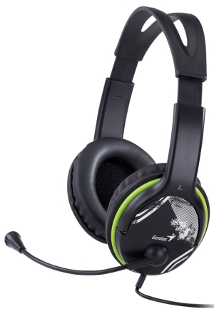 Genius headset - HS-400A, 113 dB, 40 mm reproduktory pro hluboké basy
