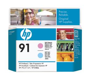 HP 91 Light Cyan + Light Magenta DJ Printhead, C9462A