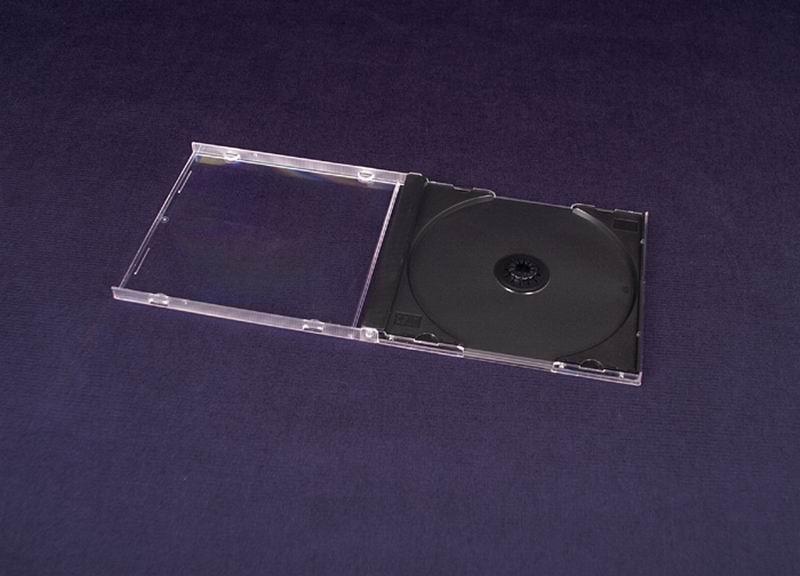 Esperanza Plastové krabičky na 1 CD/DVD   200 ks, černé
