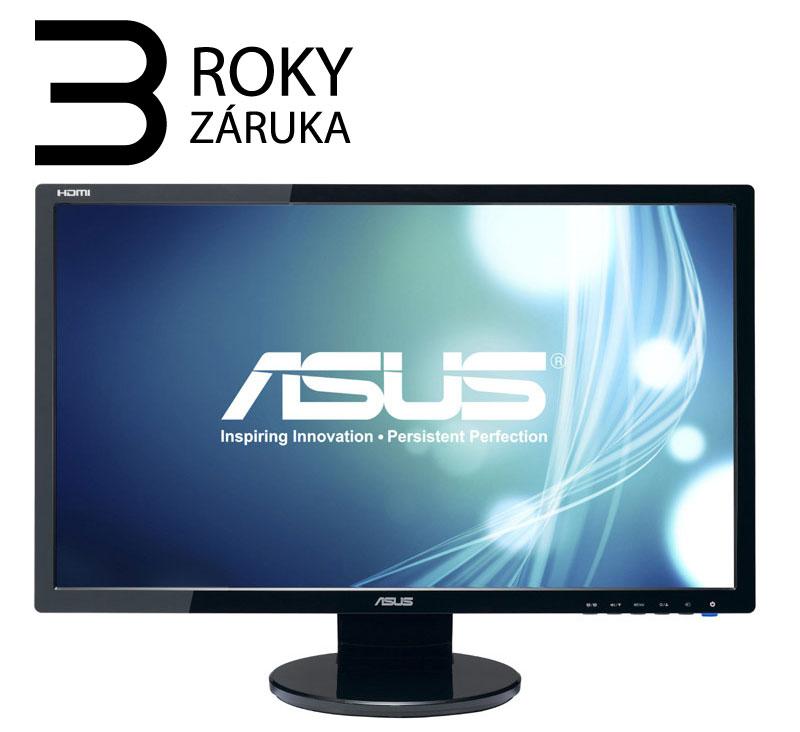 """AKCE_23,6"""" LED ASUS VE247H - Full HD, 16:9, HDMI, DVI, VGA, repro."""