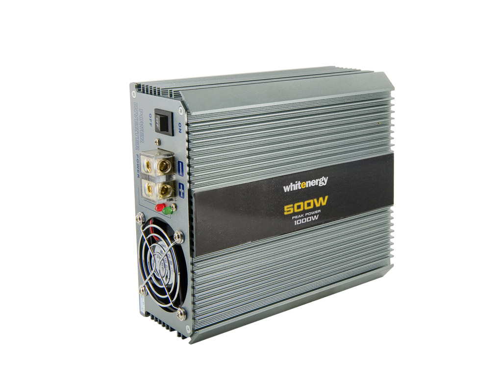 WE Měnič napětí DC/AC 24V / 230V, 500W, 2 zásuvky