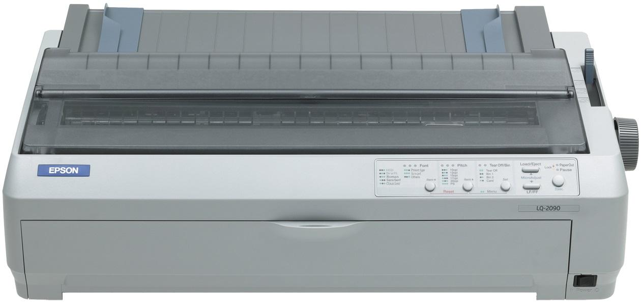 EPSON tiskárna jehličková LQ-2090, A3, 24 jehel, 530 zn/s, 1+4 kopii, USB 1.1, LPT
