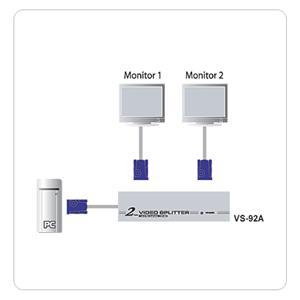 ATEN VS-92A 2-portový VGA rozbočovač 350MHz