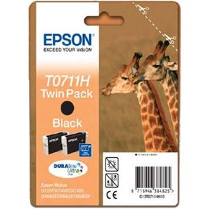 EPSON cartridge T0711H black twinpack (žirafa)