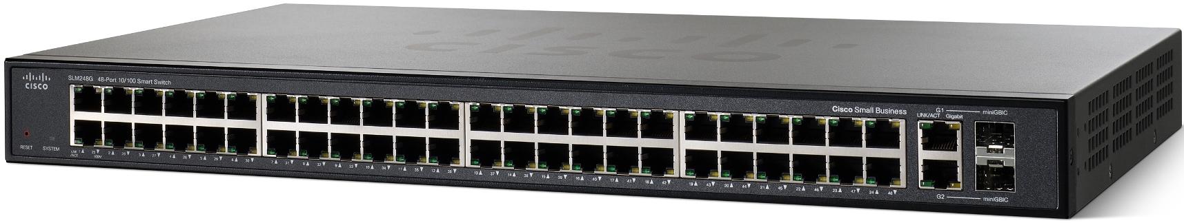 Cisco SF200-48, 48x10/100, Smart, SLM248GT-EU