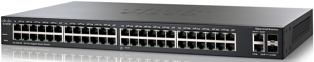 Cisco SG200-50, 50xGigabit, Smart, SLM2048T-EU