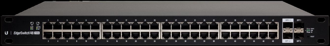 UBNT EdgeSwitch 48xGb 2xSFP 2xSFP+ PoE+ ES-48-750W