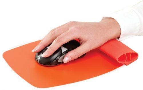 Fellowes silikonová podložka pod myš a zápěstí, oranžová
