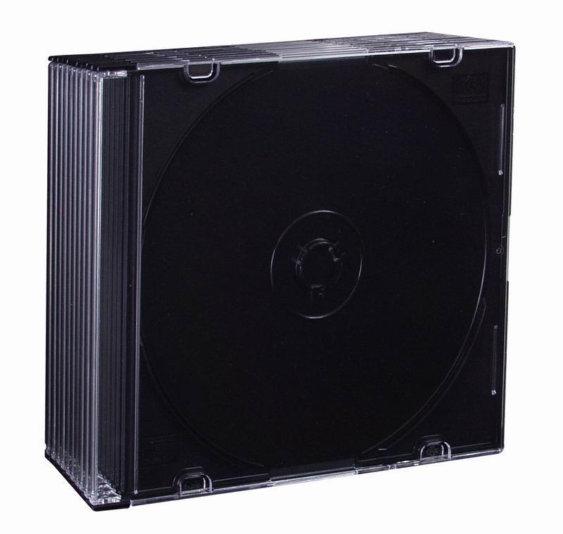 Esperanza Plastové krabičky slim 5,2mm na CD/DVD   10 ks, černé