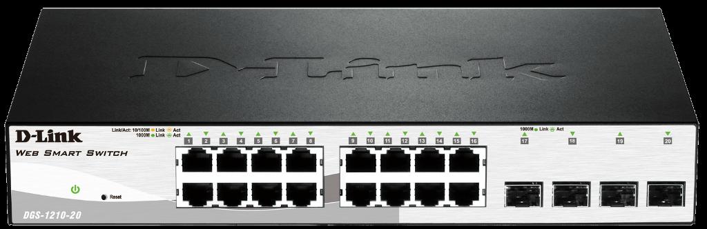 D-Link DGS-1210-20 16x 10/100/1000 Smart Sw,4x SFP