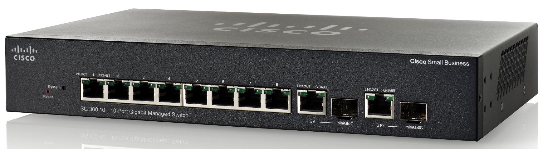 Cisco SG300-10 10-port Gigabit Managed Switch