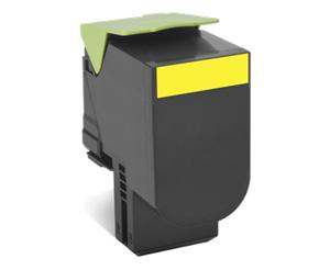 Toner Lexmark 802Y yellow | return | 1000 pgs | CX310dn / CX310n / CX410de