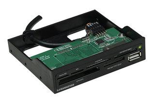 """MANHATTAN Čtečka paměťových karet, 60 v 1, USB 2.0, černá, 3,5"""" interní"""