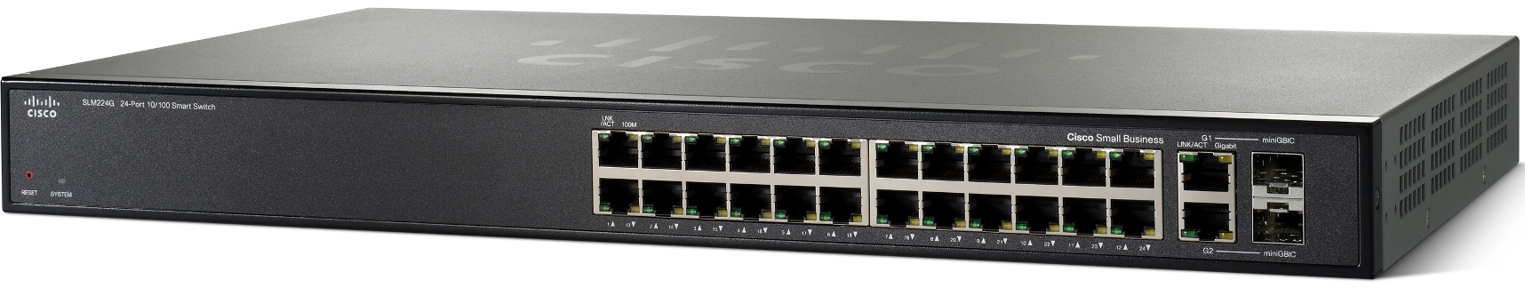 Cisco SF200-24, 24x10/100, Smart, SLM224GT-EU