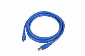 Kabel USB A-B micro 3m 3.0, modrý