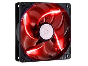 větrák Cooler Master SickleFlow 120x120, long life sleave, 19dBA, red LED