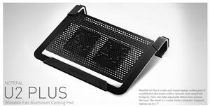 "Coolermaster chladicí ALU podstavec NotePal U2 PLUS pro NTB 12-17"" black, 2x8cm fan"