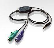 ATEN UC-10KM Konvertor USB - 2xPS/2 (myš a klávesnice)