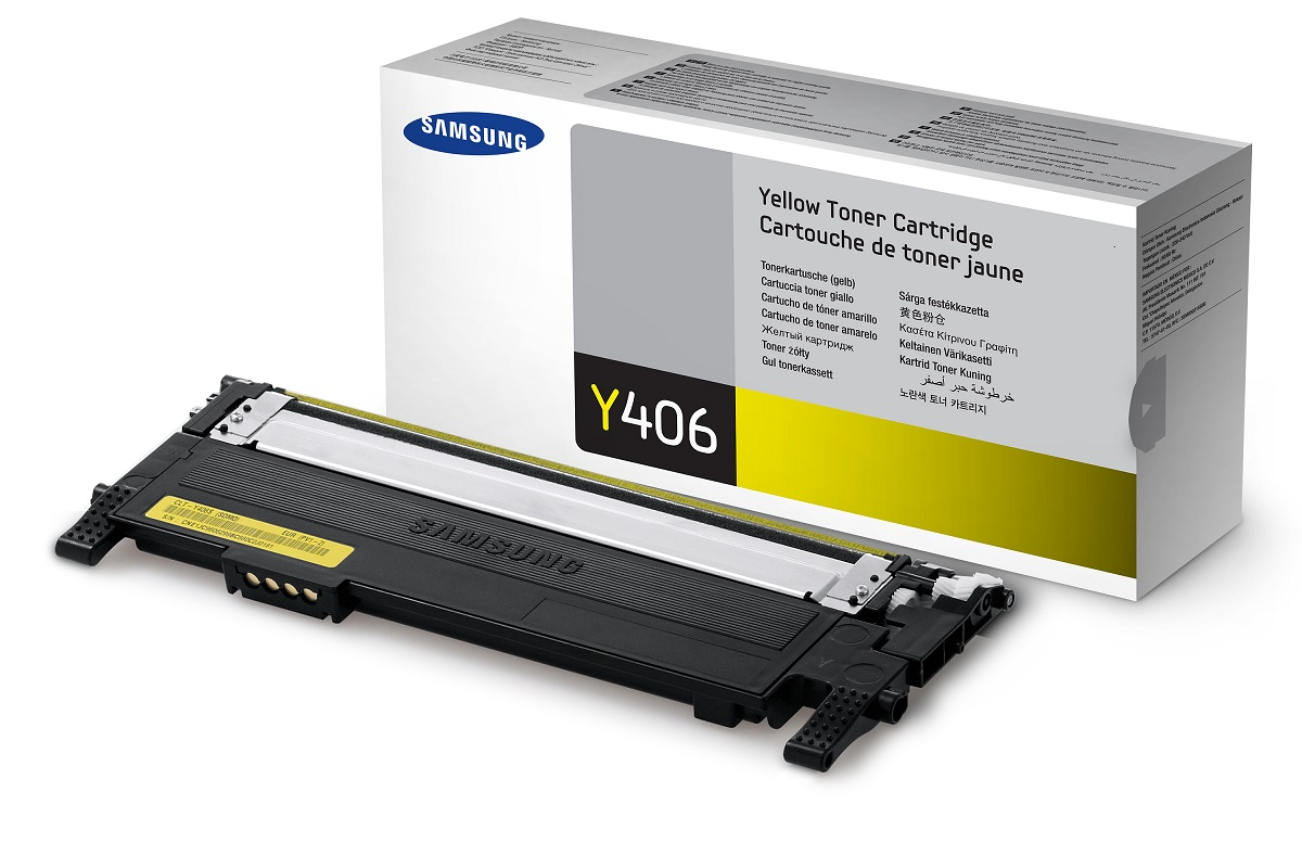 Samsung toner CLT-Y406S/ELS pro CLP-360/365,CLX-3300/3305/C410/C460/C467 - 1000 stran