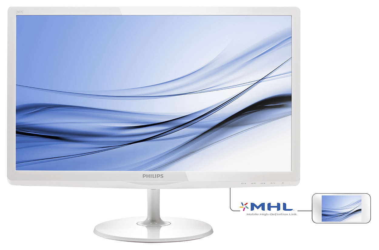 "Philips LCD 247E6EDAW 23,6""wide /1920x1080/5ms/20mil:1/VGA/HDMI/MHL/LED/IPS/repro"