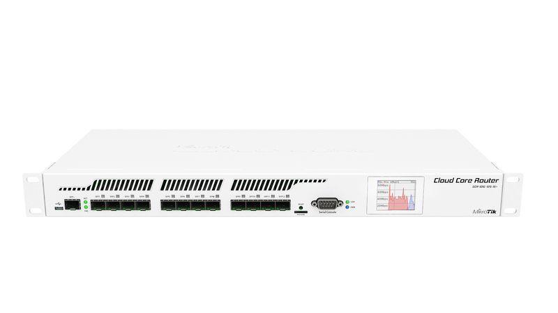 MikroTik CCR1016-12S L6 16xCore 1.2GHz 2GB RAM, 12xSFP, 1xSFP+ Rack 19'', LCD