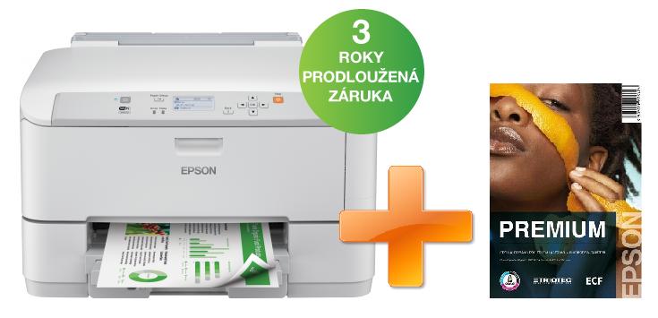 EPSON WorkForce Pro WF-5110DW - A4/34-30ppm/4ink/USB/LAN/WiFi/Duplex