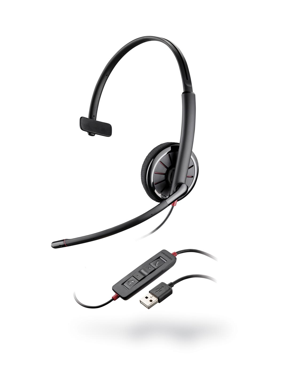 PLANTRONICS náhlavní souprava BLACKWIRE C320-M, USB, stereo
