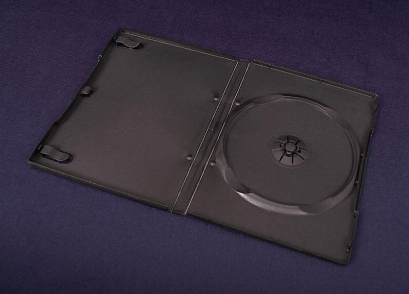 Esperanza Plastové krabičky na 1 DVD 14mm   100 ks, černé