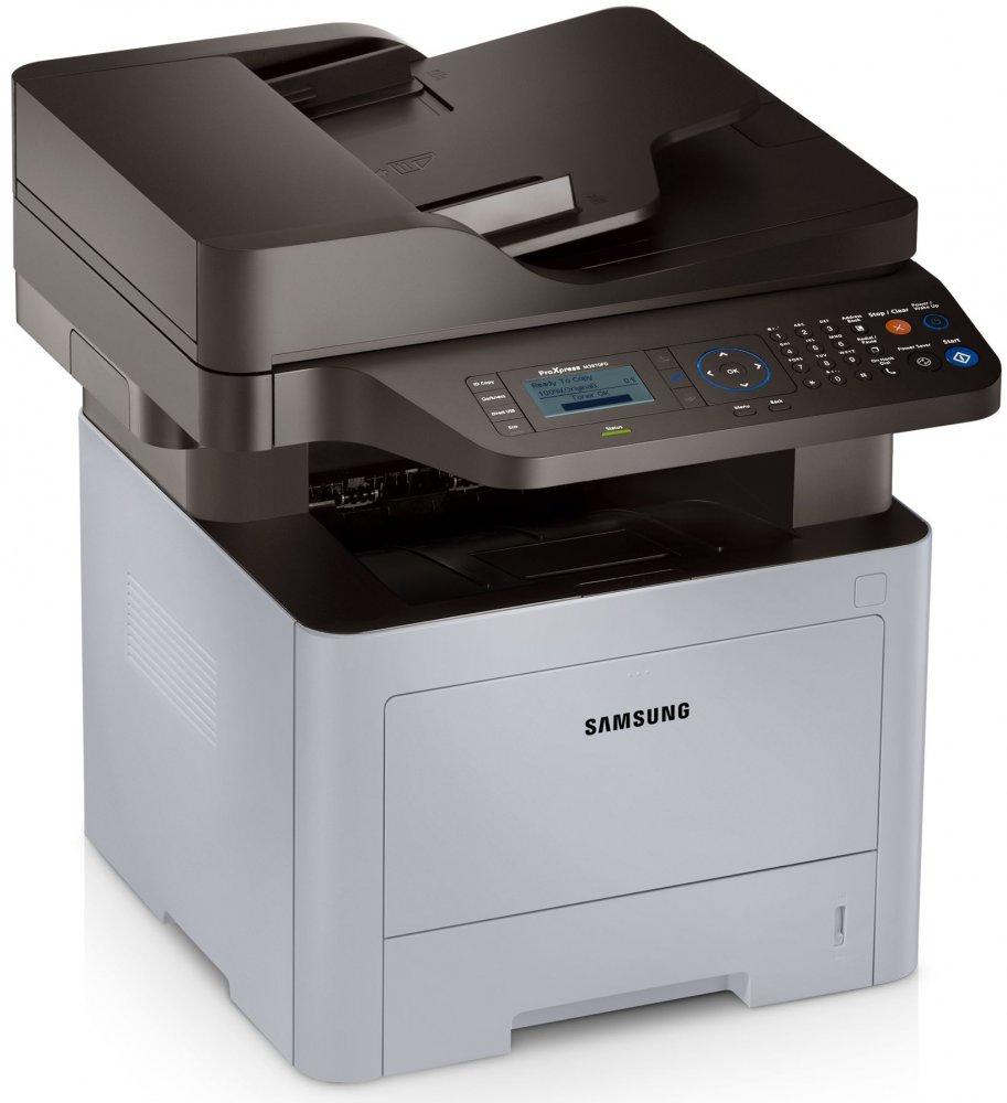 Samsung SL-M3870FD,A4,38ppm,1200x1200dpi,256Mb,PCL+PS,USB,ethernet,duplex,ADF,fax