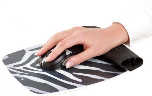 Fellowes silikonová podložka pod myš a zápěstí, Zebra