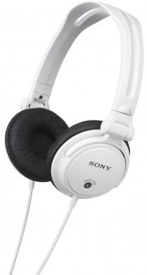 SONY MDR-V150W - DJ uzavřená sluchátka, 30mm membrána s rozsahem 16-22 000 Hz. Barva bílá