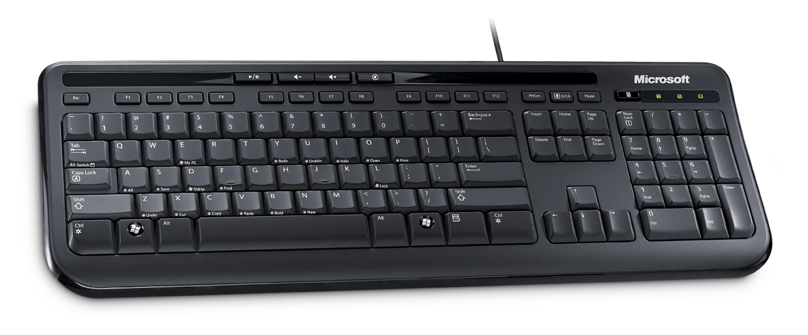 Wired Keyboard 600 USB Port CS Black