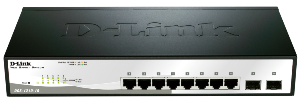 D-Link DGS-1210-10 10-Port Gigabit Smart Managed Switch (fanless)