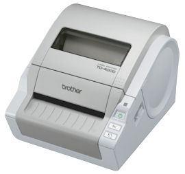 BROTHER tiskárna štítků TD-4000 USB, RS232, ( 300 dpi, max šířka štítků 102 mm ) – možno použít OEM spotřební materiál