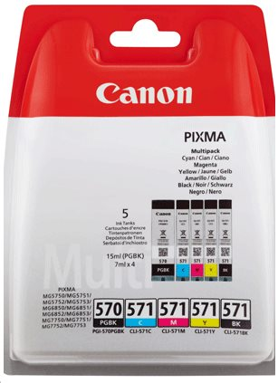 Ink Canon PGI-570/CLI-571 PGBK/C/M/Y/BK MULTI Blister without Security