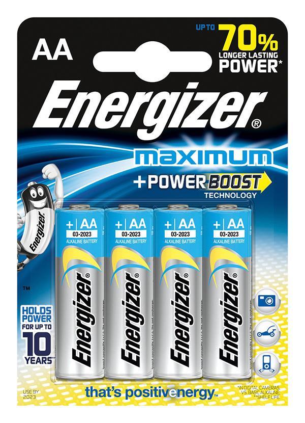 Baterie, ENERGIZER Maximum, AA, LR6, 1,5 V, 4 ks