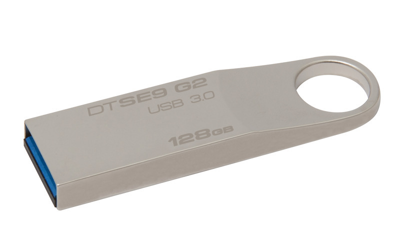 Kingston DataTraveler SE9 G2 128GB USB 3.0 kovový flashdisk malých rozměrů