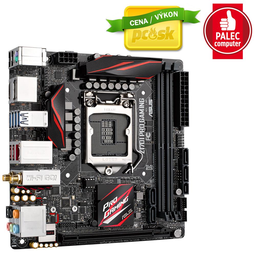 ASUS Z170I PRO GAMING, s.1151, Z170, 2xDDR4, PCIe 3.0x16, SATAIII, M.2, HDMI/DP, USB3.1, Mini ITX