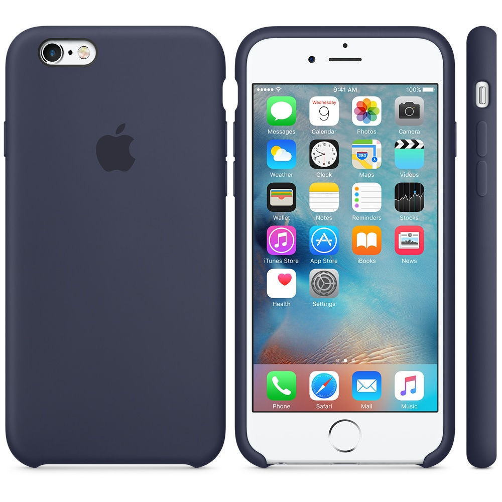 iPhone 6S Silicone Case Midnight Blue