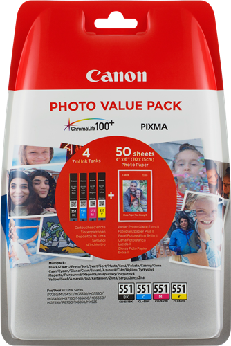 Canon cartridge CLI-551 C/M/Y/BK PHOTO VALUE