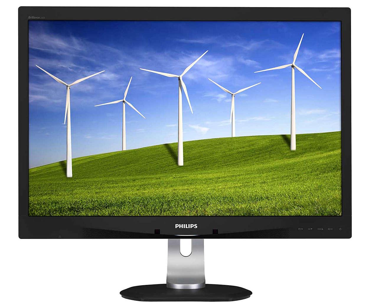 Philips LCD 240B4QPYEB 24'' LED,PLS,5ms, DVI,DP, USB,1920x1200,repro,HAS,pivot